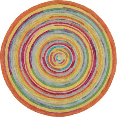 Company C Concentric Rug Round Multi