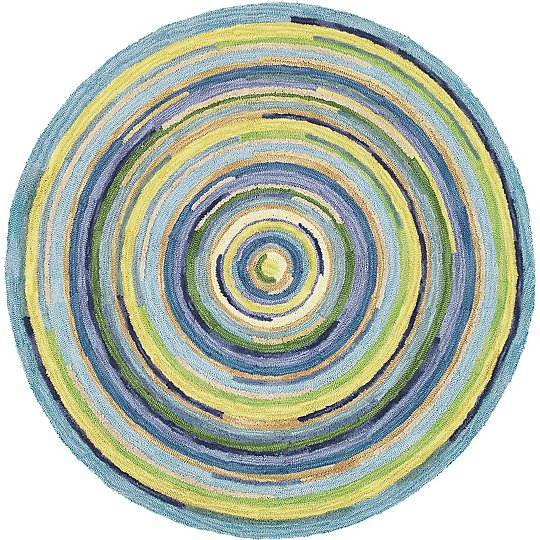 Company C Concentric Rug Round Blue