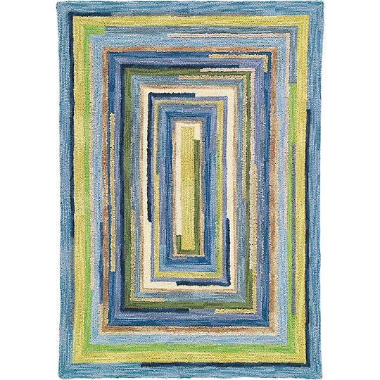 Company C Concentric Rug Blue
