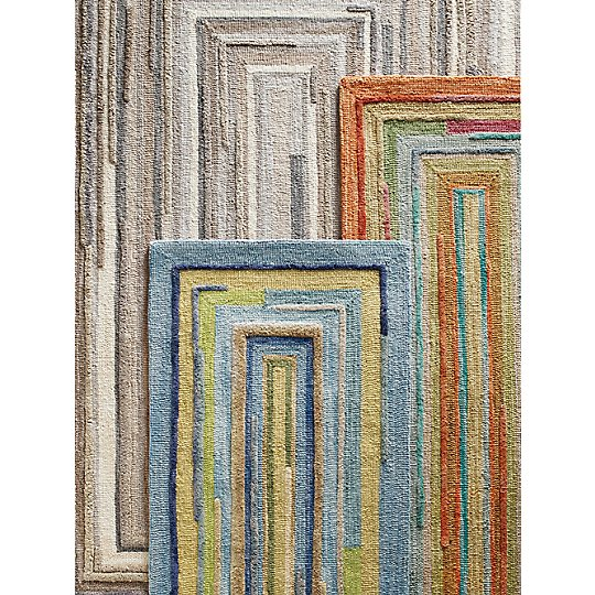 Company C Concentric Rugs Three Colors