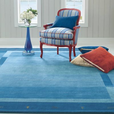 Company C Danube Rug Blue Modeled Second View