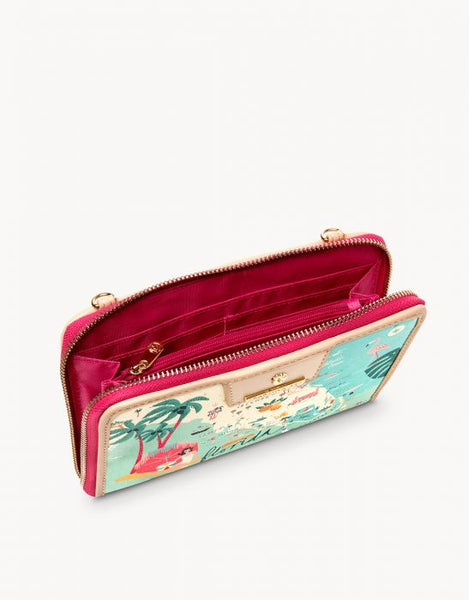 Spartina Florida All-In-One Phone Crossbody Inside View