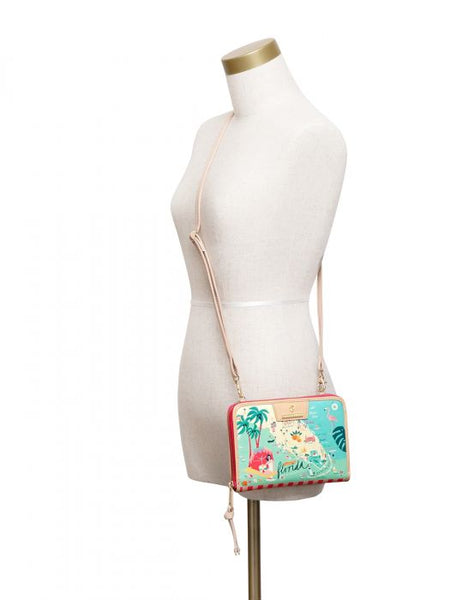 Spartina Florida All-In-One Phone Crossbody Size View