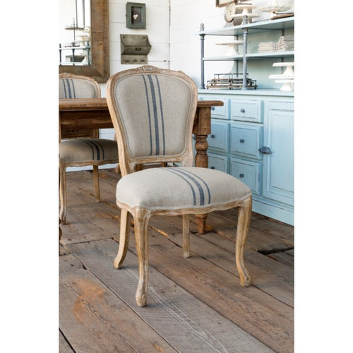 PHC French Stripe Linen Uphol Chair
