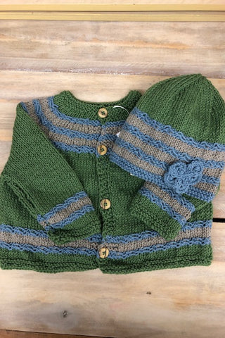 Loving Hands Knitted Sweater & Hat Set #2