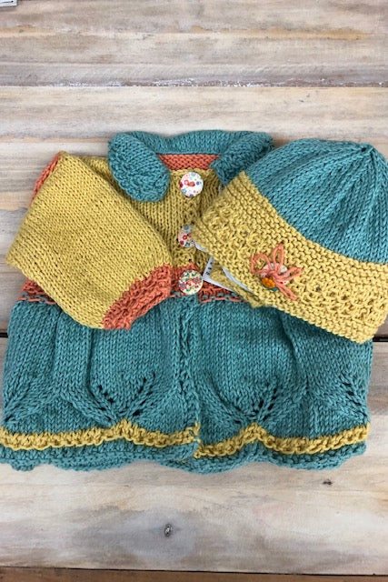 Loving Hands Knitted Sweater & Hat Set #3