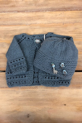 Loving Hands Knitted Sweater & Hat Set #8