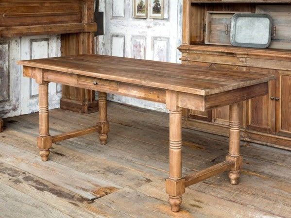 PHC Farm Table With Drawers