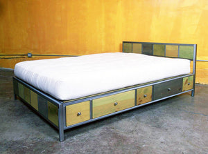Venezia Furniture Ten Drawer storage bed handmade in America