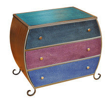 Venezia Furniture 3 drawer Bombay in Peacock  handmade in America