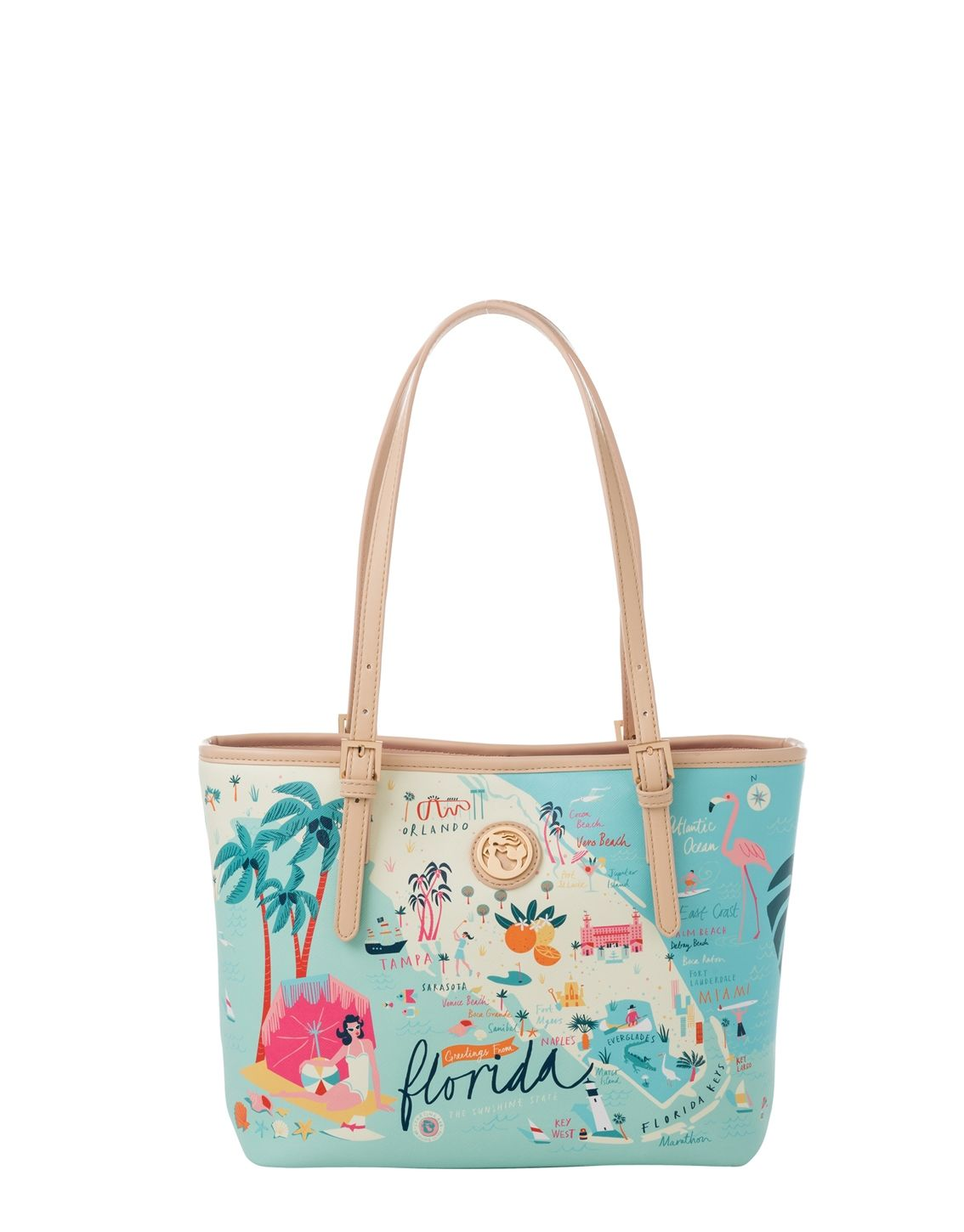 Spartina Small Florida Tote With Zipper