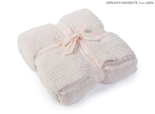 Pink Barefoot Dreams Cozy Chic Throw