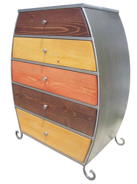 Venezia Furniture 5 drawer Bombay in wood tone handmade in America