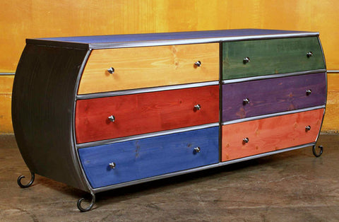 Venezia Dresser - 6 Drawer Double Bombay