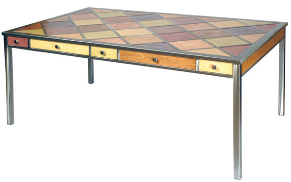 Venezia Furniture Diamond top table handmade in America