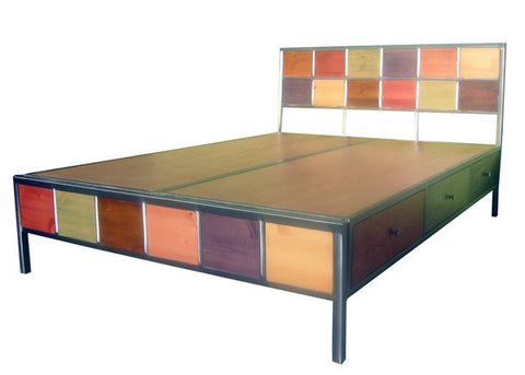 Venezia Furniture Simple Storage Bed Handmade in America