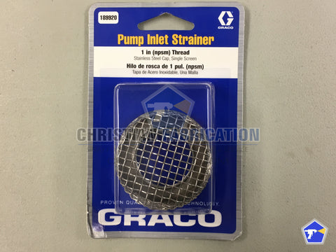 Graco pump inlet strainer 189920