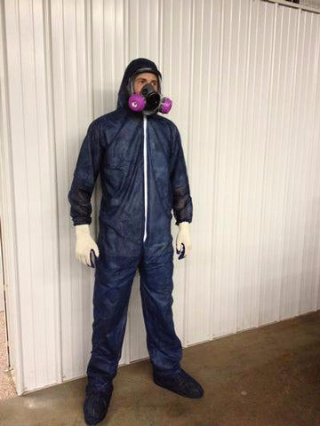 Disposable Poly Coveralls Suits - Paint - Spray Foam - 3XL (Case of 25)