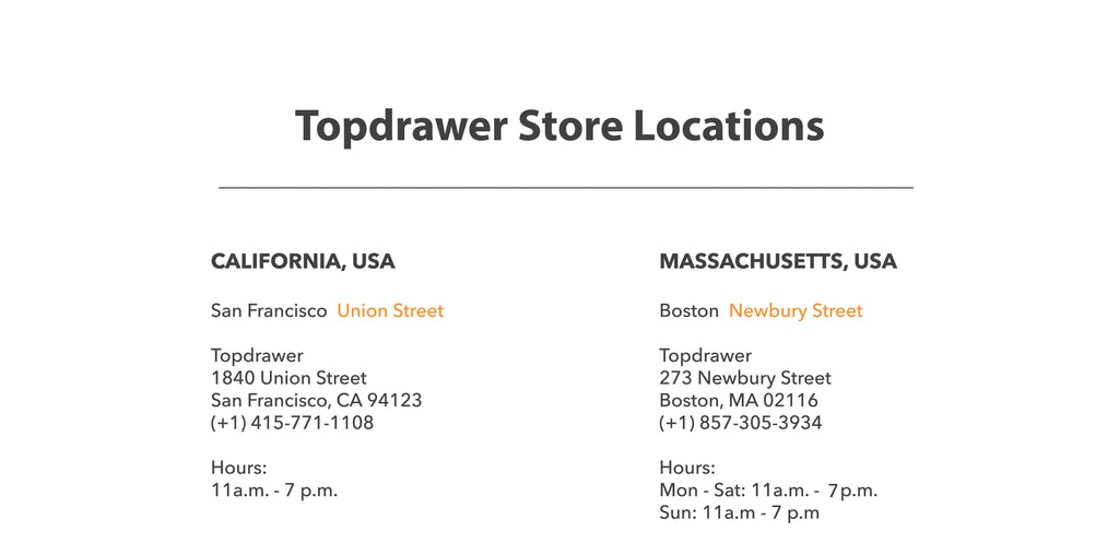 Topdrawer store locators