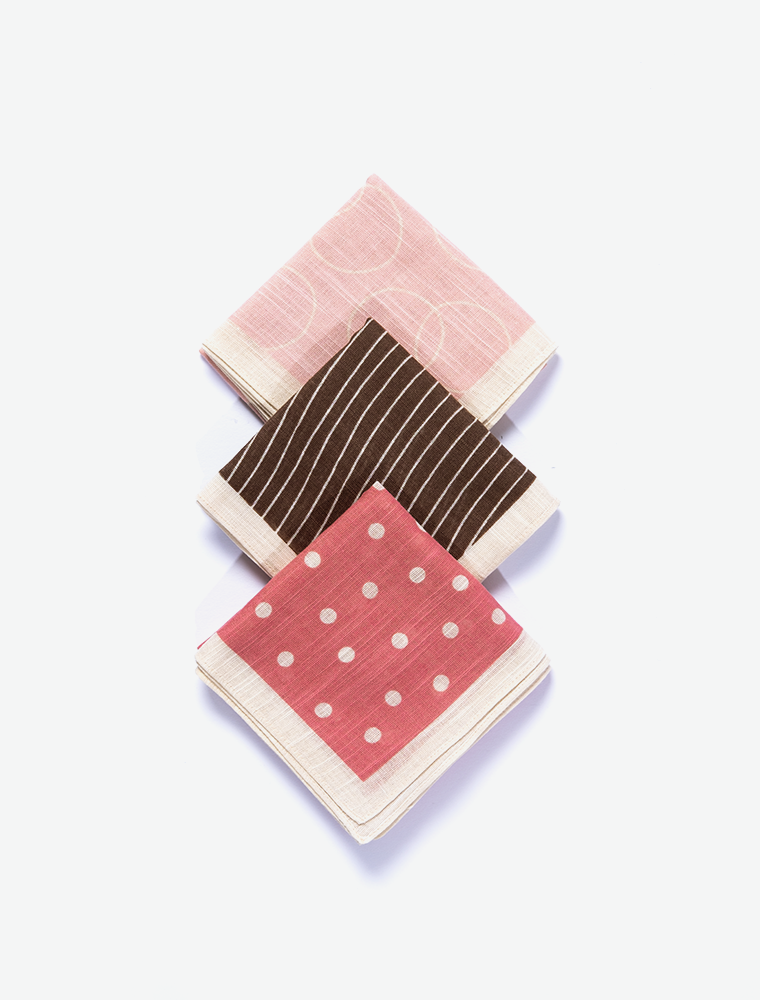 JAPANESE HANDKERCHIEF - SET OF THREE