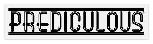 Prediculous Sticker - Black Logo (clear background)