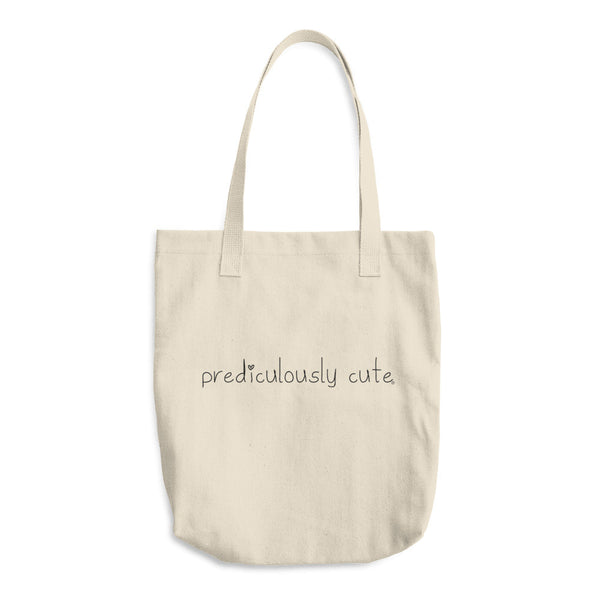 Prediculously Cute with Heart Cotton Tote Bag