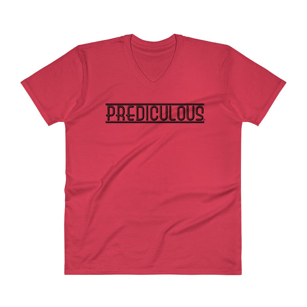Official Prediculous Logo Men's V-Neck T-Shirt