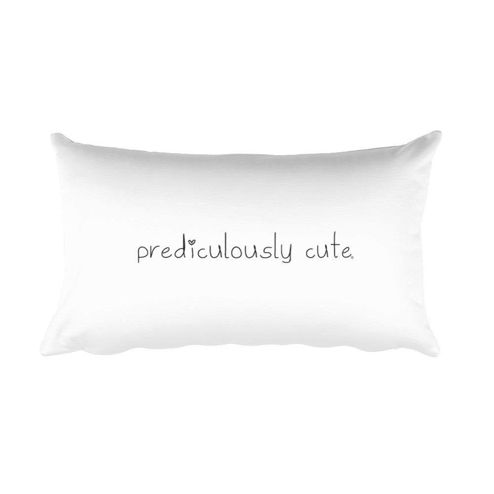 Prediculously Cute with Heart Rectangular Pillow