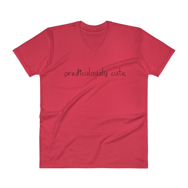 Prediculously Cute with Heart Men's V-Neck T-Shirt