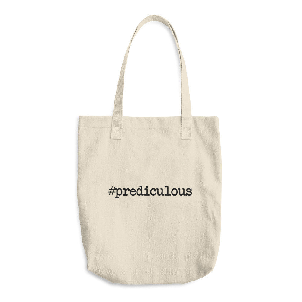 #Prediculous Cotton Tote Bag