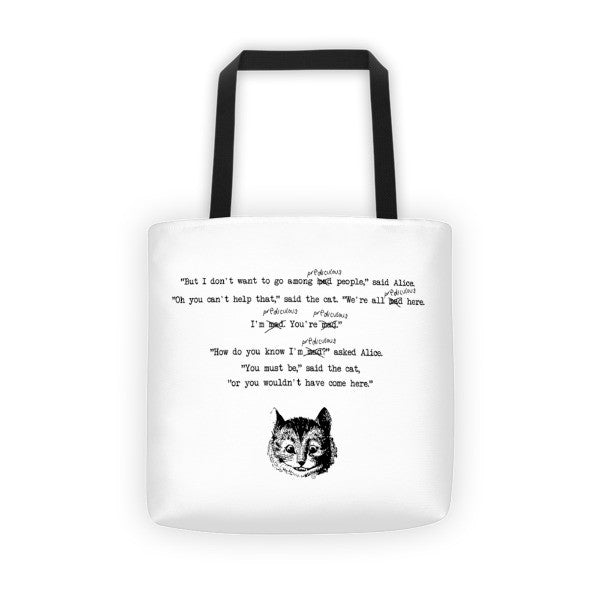 Altered Alice Cheshire Cat Tote bag