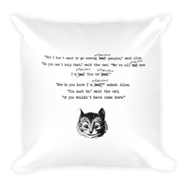 Altered Alice Cheshire Cat Pillow