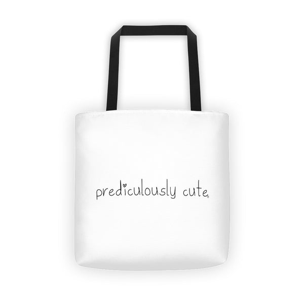 Prediculously Cute with Heart Tote bag