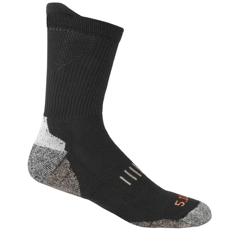 5.11 TACTICAL YEAR ROUND CREW SOCK BLACK L/XL