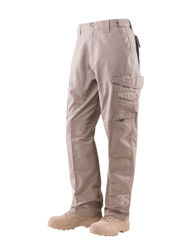 TRU-SPEC MEN'S 24-7 RIPSTOP TACTICAL PANTS KHAKI 54xUnhemmed