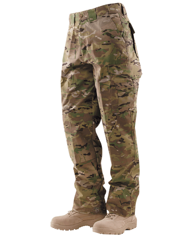 TRU-SPEC MEN'S 24-7 RIPSTOP TACTICAL PANTS MULTICAM 54xUnhemmed