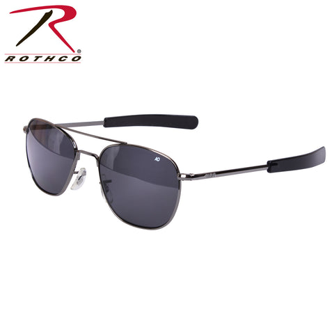 American Optical 52 MM Polarized Pilots Sunglasses Charcoal / Black