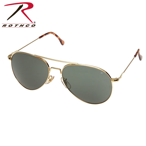 American Optical 58MM General Polarized Sunglasses Gold