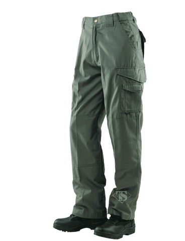 TRU-SPEC MEN'S 24-7 RIPSTOP TACTICAL PANTS OD 54xUnhemmed