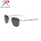 American Optical Original Pilots Sunglasses Gold / Green Lens 52 MM