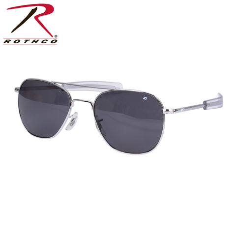 America Optical 55MM Polarized Pilot Sunglasses Chrome