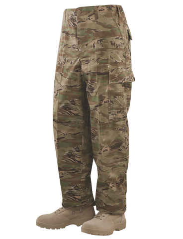 TRU-SPEC CORDURA RIPSTOP CLASSIC BDU PANTS ALL TERRAIN TIGER STRIPE XL SHORT