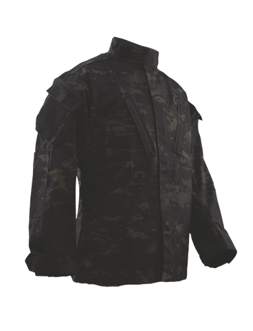 TRU-SPEC CORDURA RIPSTOP TACTICAL RESPONSE UNIFORM SHIRT MULTICAM BLACK XL SHORT