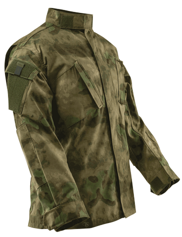 TRU-SPEC CORDURA RIPSTOP TACTICAL RESPONSE UNIFORM SHIRT ATACS FG XL SHORT