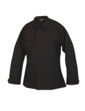 TRU SPEC LIGHTWEIGHT POLY COTTON RIPSTOP CLASSIC BDU COAT BLACK 3XL LONG