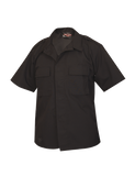 TRU SPEC LIGHTWEIGHT POLY COTTON RIPSTOP TACTICAL SHORT SLEEVE SHIRT BLACK 5XL REGULAR