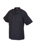 TRU SPEC LIGHTWEIGHT POLY COTTON RIPSTOP TACTICAL SHORT SLEEVE SHIRT NAVY 5XL REGULAR