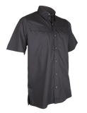 TRU-SPEC MEN'S 24-7 PINNACLE SHORT SLEEVE SHIRT BLACK 4XL REGULAR