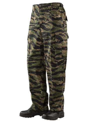 TRU-SPEC COTTON RIPSTOP CLASSIC BDU PANTS ORIGINAL VIETNAM TIGER STRIPE 2XL LONG