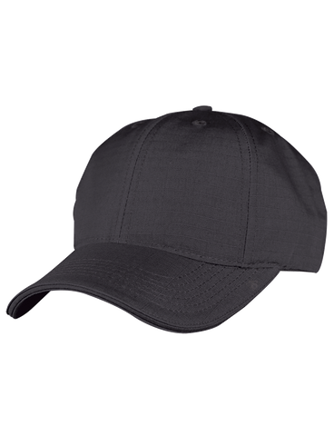 TRU SPEC BASIC POLY COTTON RIPSTOP BALL CAP BLACK OSFA